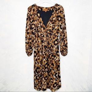 Lane Bryant Icon Collection Leopard V Neck Dress